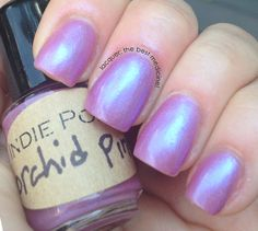Handmade Nail Polish  IN THE PINK line  orchid Pink by IndiePolish, $3.95