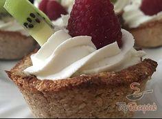Recept Fantasztikus fitnesz kosárkák cukor, liszt és tojás nélkül, túróval és friss gyümölccsel