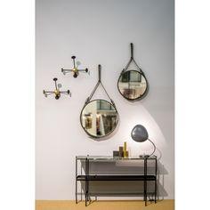 Adnet mirror Ø58, olive – Gubi #interior #design #scandinavian