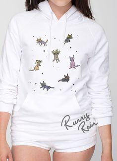 Can't you see their horrifying teeth? These cats are crazy! Hoodie used: American Apparel