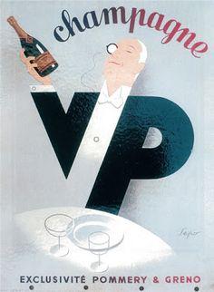 Elegant art deco advertisement by Italian artist Sepo. Vintage Advertisements, Vintage Ads, Vintage Posters, Art Deco Design, Retro Design, Graphic Design, Wine Advertising, Wine Poster, Vintage Champagne