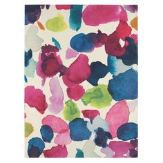 Vibrant Watercolour Abstract Rug - T&W Rug Collection - T&W Rug Collection
