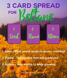 The Butterfly Witch - 3 Card #Tarot Spread for #Beltane #sabbat #witch