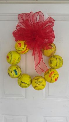 Softball wreath for someone special !!