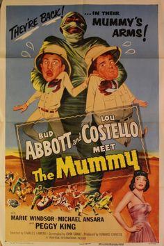 "Renew Gallery | ""Abbott and Costello Meet The Mummy"" Movie Poster"