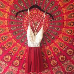white/red crochet mini dress agaci short red/white dress purchased from A'GACI a'gaci Dresses Mini