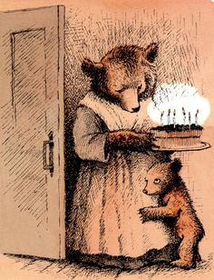 """Little Bear"" by Maurice Sendak  bear cub birthday card"