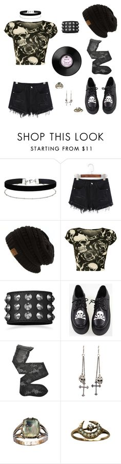 """Untitled"" by xxemoxbutterflyxx ❤ liked on Polyvore featuring Miss Selfridge, WearAll, BillyTheTree, Fogal and King Baby Studio"