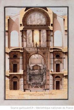 Géométral de la chapelle de l'un des quatre palais de l'empereur, dédié à Sainte-Geneviève Vierge :Autor :Lequeu, Jean Jacques (1757-1825?). Dessinateur