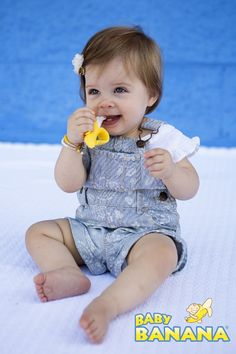 Baby Banana Infant Toothbrush - A mom invented it, a million babies use it!