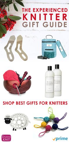 Shop the Experienced Knitter Gift Guide with great knitting product ideas for Christmas holiday gift giving by Studio Knit. via @StudioKnit