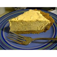 Peanut Butter Pie 2000 - Allrecipes.com  I love this pie! I like to sprinkle a few chocolate chips on top, too.