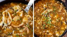 Hot and Sour Soup - Dinner, then Dessert Chili Recipes, Soup Recipes, Cooking Recipes, Best Potato Soup, Kimchi Recipe, Hot And Sour Soup, Bamboo Shoots, Soups And Stews, Tofu