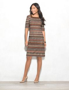 Talk about bohemian chic, this textured dress is perfect for transitioning from summer to fall. Our favorite detail? A hint of faux suede gives your look a trendy twist. Allover textured pattern. Imported.