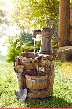 Led Licht, Fountain, Outdoor Decor, Home Decor, Gardens, Garden Deco, Water Fountains, Water Games, Artificial Stone