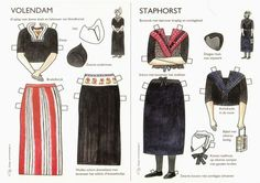 From the collection of Mirna Rodriguez, one of the newest members of the NYC paper doll group. Mirna found this at a flea market, and wa. Folk Costume, Costumes, Usa Culture, Dutch Women, World Thinking Day, Folk Clothing, Vintage Paper Dolls, Retro Toys, Photos Du