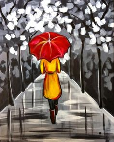 Walking in the Rain - Uptown Art. I really like how you can even distinguish her boots.