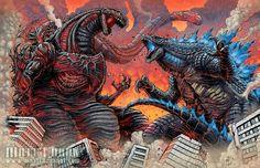 New Japanese Godzilla vs. New American Godzilla