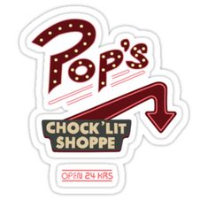 """Pops Diner Sticker"" Stickers by anikameeusen 