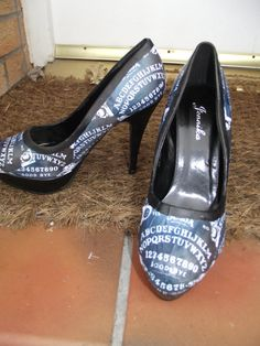 Ouija Board Shoes by LexisTricks on Etsy, £30.00