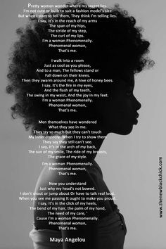 One of the best poems ever written highlighting the beauty of black women.