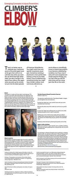 Climber's Elbow