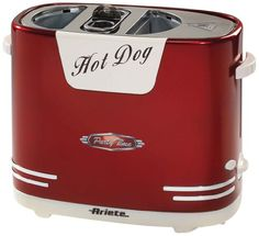 Ariete 186 hot dog maker in the Retro Design, 650 W Hot Dogs, Rice Cooker, Slow Cooker, Specialty Appliances, Kitchen Appliances, Retro Toaster, Catering, Retro Vintage, Cool Technology