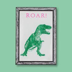 T-Rex ROAR! Dinosaur Print A3