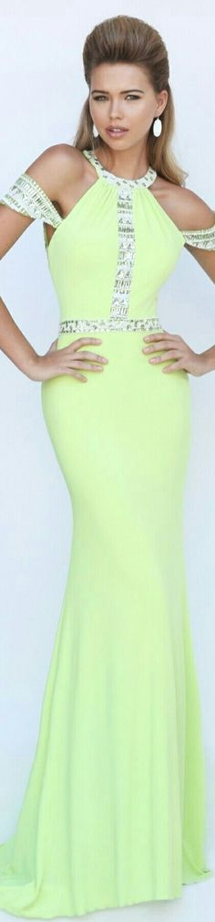 Citron Yellow Sherri Hill Dress 50341