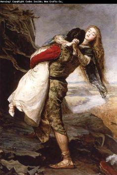 """Sir John Everett Millais """"The Crown of Love"""""""