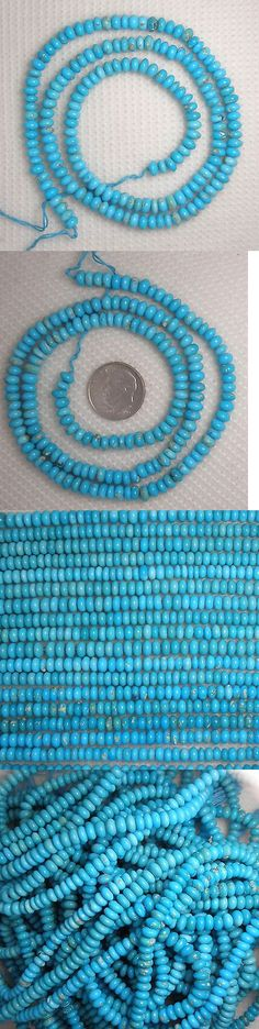 Stone 179273: Sleeping Beauty Turquoise 5Mm Rondelle Gemstone Beads Blue 18 Strand Lot 969 -> BUY IT NOW ONLY: $299 on eBay!