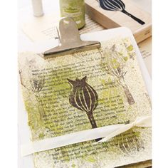 Creatively Stamped Art Papers