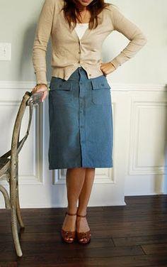 Skirt from a men's shirt