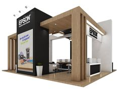 Epson Autocom 2015. by Tiago Guedes de Campos at Coroflot.com Design Stand, Trade Show Booth Design, Display Design, Exhibition Stand Design, Exhibition Stall, Kiosk Design, Retail Design, Design Web, Graphic Design