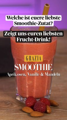 Fruit Smoothie Recipes, Smoothie Diet, Drinks, Food, Vanilla, Drink Recipes, Chef Recipes, Smoothie Ingredients, Dieting Tips