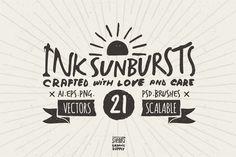 FREE 2 Nov-8 Nov 2015 only! Grab it now! Hand Drawn Sunbursts by Stella's Graphic Supply on Creative Market. 21 sunbursts!