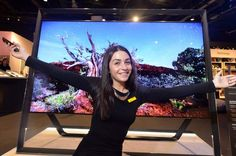 This giant 6ft wide and 5ft tall TV is on sale at Birmingham's Selfridges for an eye-watering price of £35,000.