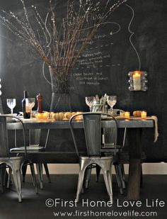 Creating A Casual #Fall Tablescape #dining #room