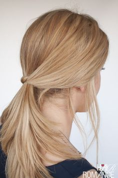 Hair Romance - The easy knotted ponytail