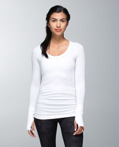 run: swiftly tech long sleeve scoop *ruched | women's tops | lululemon athletica