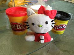 Hello Kitty  Made with Play-Doh