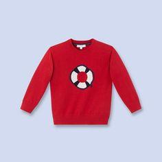 Roter Pullover LACKROT Junge - Kinderbekleidung - Jacadi Paris