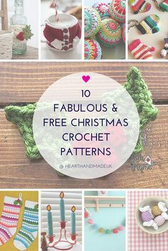 10 Fabulous and Free Christmas Crochet Patterns (Heart Handmade uk)