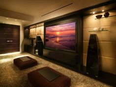 Contemporary Entertainment Center....