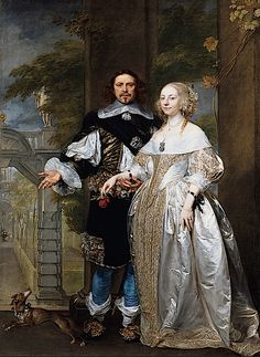 1662 Married Couple in the Park attributed to Gonzales Coques (Staatliche Museen zu Berlin)