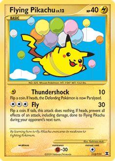 """""""Flying Pikachu"""" LOL so cute!!!"""