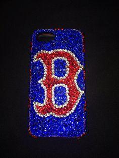 Boston Red Sox phone case by RansdellsRhinestones on Etsy