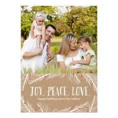 Winter Branches Holiday Photo Cards Craft Invitations