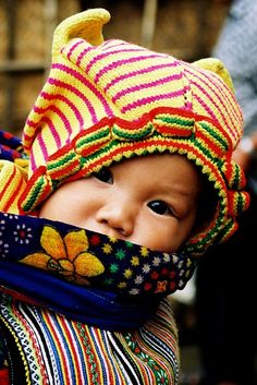 Portrait bébé - Vietnam - Love these patterns and colors