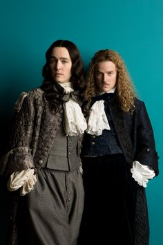 Alexander Vlahos as Philippe Duc D'Orleans and Evan M Williams as Le Chevalier de Lorraine in 'Versailles' Canal+ Production). The costumes are not yet iconic. Versailles Bbc, Versailles Tv Series, Louis Xiv, Serie Tv Francaise, Alexander Vlahos, Milady De Winter, Canal Plus, Evan Williams, 17th Century Fashion